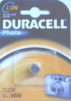 Duracell 1/3N 3 Volt Photo Lithium Battery (2L76)