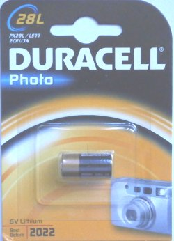 Duracell 28L 6 Volt Lithium Photo Battery