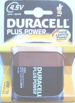 Duracell Plus MN1203 3LR12 4.5 Volt Battery