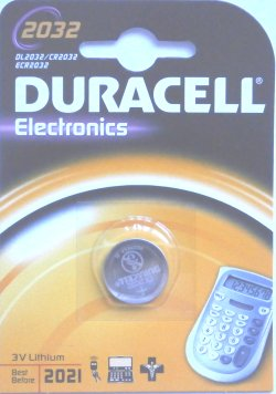 Duracell CR2032 Lithium 3 Volt Battery