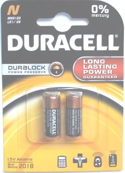 Duracell Duralock LR1 Type N Security 1.5 Volt Twin Pack