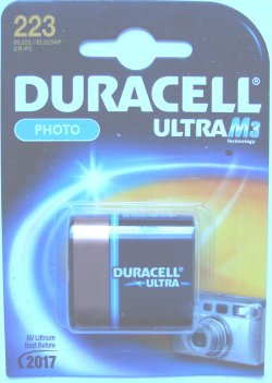Duracell 223 CR-P2 6 Volt Photo Lithium Battery