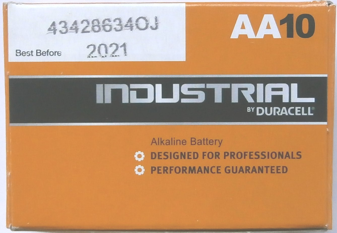 10 Duracell Industrial AA 1.5 Volt Batteries ( FKA Procell )