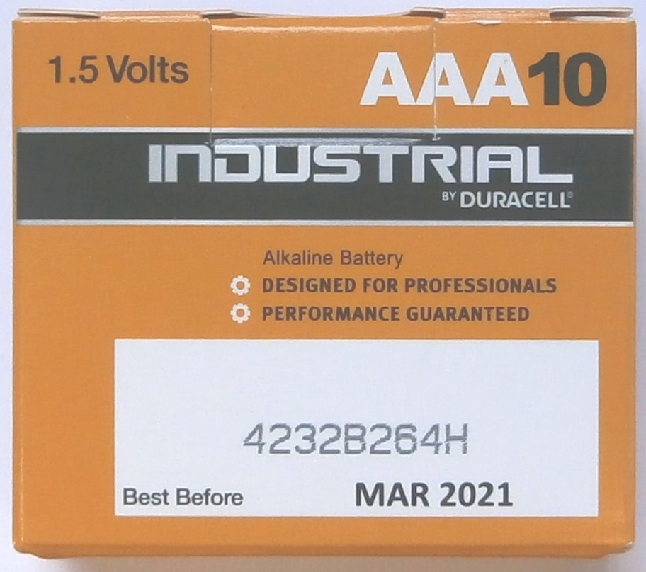 10 Duracell Industrial AAA 1.5 Volt Batteries ( FNA Procell )