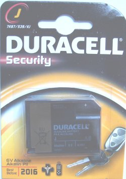 Duracell Type J ( 539 4LR61 ) 6 VOLT BATTERY