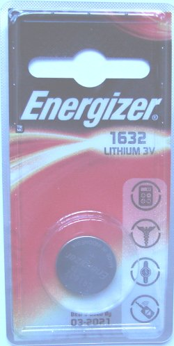 Energizer CR1632 3 Volt Lithium Battery