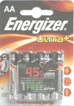 Energizer Ultra Plus AA Batteries Pack of 4