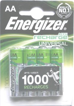 Pack of 4 Energizer AA 1300mah ACCU Rechargeable batteries - Click Image to Close