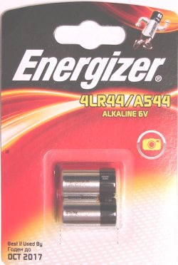 Pack of 2 Energizer 4LR44 Alkaline 6 Volt Batteries