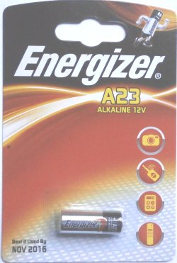 Energizer A23 (LRV08 MN21) 12 Volt Battery - Click Image to Close