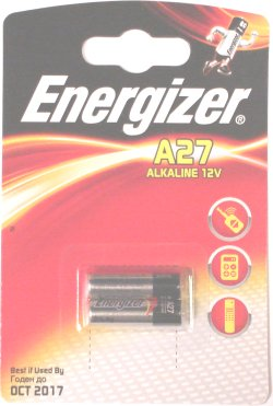Energizer A27 (27A) Alkaline12 Volt Batteries Pack of 2