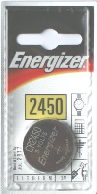 Energizer CR2450 3 Volt Lithium Battery