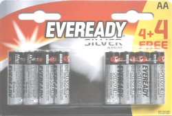 Eveready Silver AA 4 + 4 Free Batteries