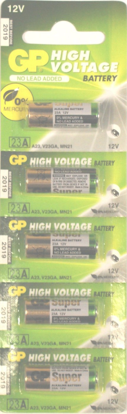 GP 23A Batteries Pack of 5 ( A23 23AE)