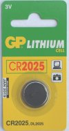 GP CR2025 3 VOLT LITHIUM BATTERY