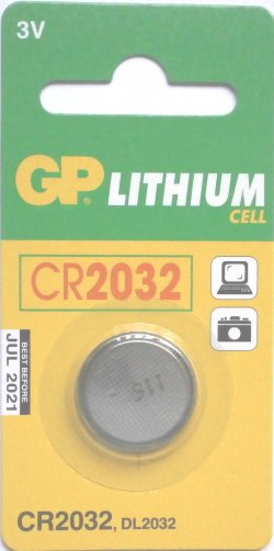 GP CR2032 3 VOLT LITHIUM BATTERY