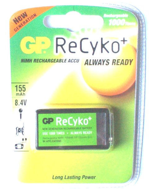 GP 8.4 Volt PP3 Rechargeable NiMh Battery