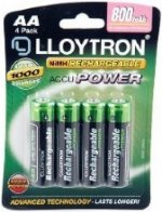 Lloytron AA 800 mah Rechargeable Battery pack of 4