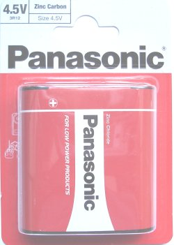 Panasonic Zinc Carbon 312S 3R12 4.5 Volt Battery