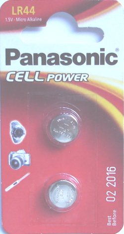 PANASONIC LR44 AG13 BATTERIES Pack of 2