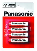 Box of 48 Panasonic Zinc Carbon AA Batteries