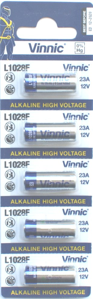 Vinnic 23A Batteries Pack of 5 ( A23 23AE LRV08)