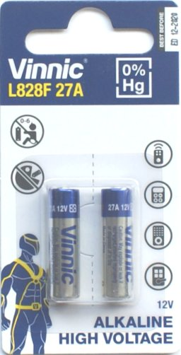 Pack of 2 Vinnic 27A 12 Volt Batteries