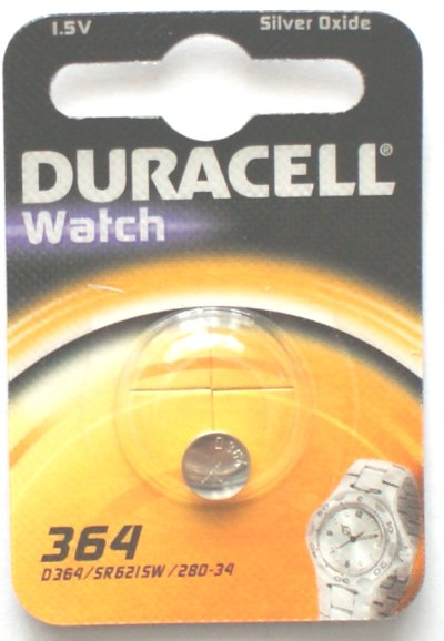 Duracell 364 Watch Battery 1.5 Volt