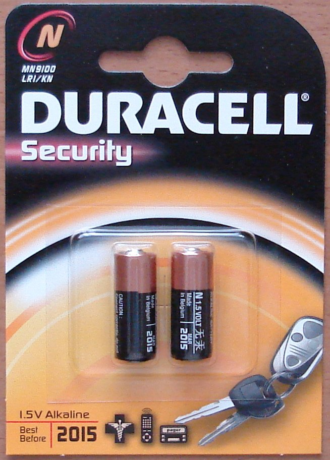 Duracell LR1 Type N Security 1.5 Volt Twin Pack