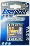 4 Energizer AAA Ultimate Lithium Batteries