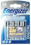4 Energizer AA Ultimate Lithium Batteries