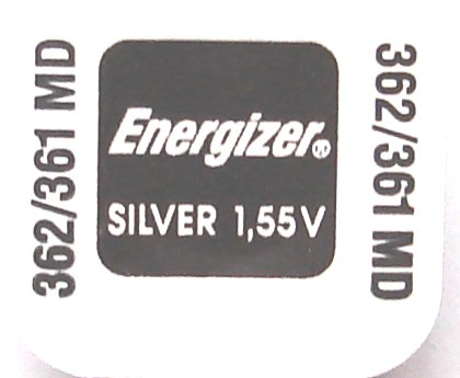 Energizer 1.55 Volt Silver Oxide Battery 361 / 362 - Click Image to Close