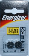 Card of 2 Energizer LR43 Batteries