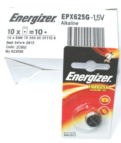Energizer EXP625G 1.5 Volt Alkaline Battery (LR9) Box of 10