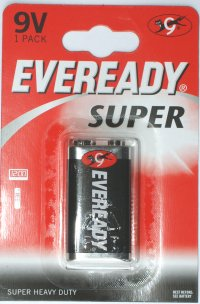 Eveready Super PP3 9 Volt Battery