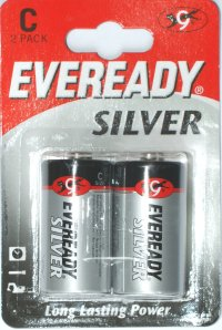 Eveready Silver C Batteries Pack of 2