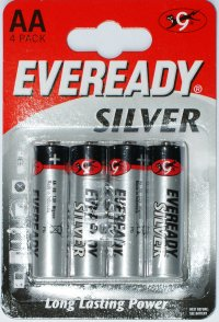 Eveready Silver AA Batteries pack of 4
