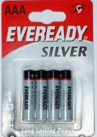 Eveready Silver AAA Batteries pack of 4