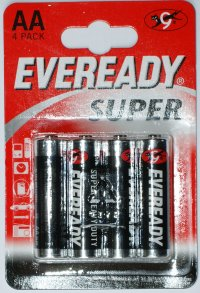 Eveready Super AA Batteries pack of 4