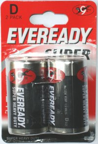Eveready Super D Batteries Pack of 2