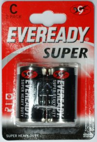 Eveready Super C Batteries Pack of 2