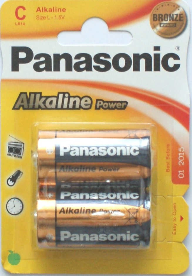 Panasonic C Batteries Alkaline Power Bronze 2 Pack